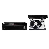 Receiver Stereo 4508 BT + Tornamesa Profesional PM-9805