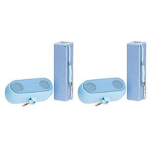 Combo 2 Baterías Power Bank + 2 Parlantes Azules