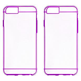 Combo 2 Carcasas iPhone 6 Plus Púrpura