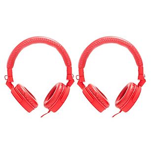 Combo 2 Audífonos con Micrófono Integrado Rojo