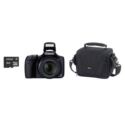 Combo Cámara Semiprofesional SX520 + Micro SD 8GB + Bolso