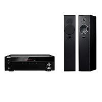 Receiver Stereo 4508 Bluetooth + Parlantes Pedestal, NS-F140