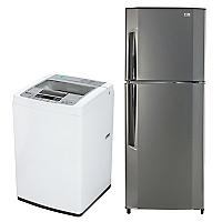 Combo Refrigerador No Frost 251 lt + Lavadora Automática 7 kg