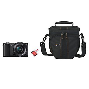 Combo Cámara Reflex ILCE-5000B + Bolso + Micro SD 32GB