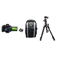 Combo C�mara Reflex T6I 18-55 + Bolso + Micro SD 64GB + Tr�pode con Cabezal de Bola