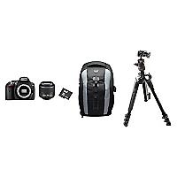 Combo C�mara Reflex D 5300 Black + Lente 18-55 VR II + Bolso + Micro SD 64GB + Tr�pode con Cabezal de Bola