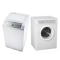 Combo Lavadora Automática 12 kg + Secadora Eléctrica 6 kg