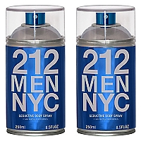 Perfume 212 MEN NYC Vintage Body Spray 250 ML X 2