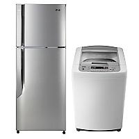 Combo Refrigerador No Frost Top Mount  291 lt + Lavadora Automática 7,5 kg
