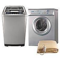 Lavadora Automática 7,5 kg + Secadora Eléctrica 6 kg + Calientacamas