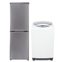 Refrigerador Frío Directo 231 lt + Lavadora Automática 7,5 kg