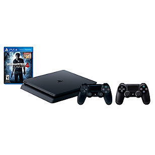 Consola PS4 Slim 500GB + Juego Uncharted + Control Adicional