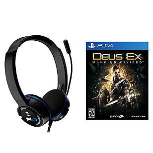 Juego PS4 Deus Ex + Audifono Ear Force