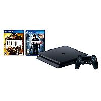 Consola PS4 500GB SLIM + Juego Uncharted 4 + Juego PS4 Doom 2016