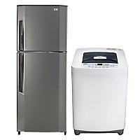Refrigerador No Frost 188 lt + Lavadora Automática 6,5 kg