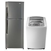 Refrigerador No Frost 188 lt + Lavadora Automática 7,5 kg