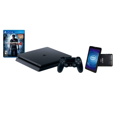 Consola PS4 Slim 500GB + Uncharted 4+ Tablet  7