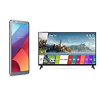 Combo Smartphone LG G6 Gris + TV 43 Smart FHD