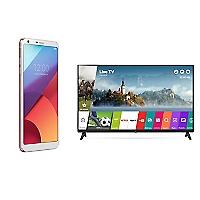 Combo Smartphone LG G6 Blanco + TV 43 Smart FHD