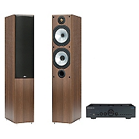 Amplificador V2 Integrado + Parlante MR4W Walnut