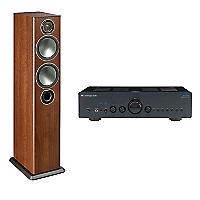 Amplificador V2 Integrado + Parlante Bronze5 Walnut