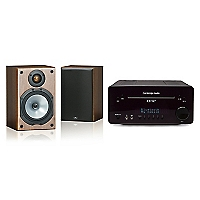 Receiver One B + Parlantes Bookshelf Walnut