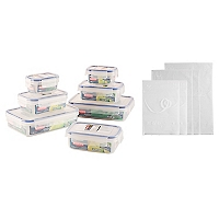 Pack Set 7 Herméticos Komax + 5 Bolsas Almacenamiento al Vacío Space Bag