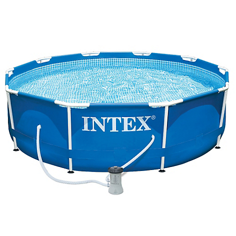 Intex piscina 6503 lts filtro aro de basket inflable for Piscina inflable intex