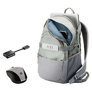 Combo HP Mochila+ Adap+Mouse