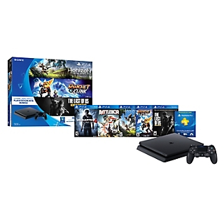 Combo CONS PS4 500GB+HORI+LAST US+RATC+3 + PS4 UNCHARTED 4 - STAND ALONE + SW PS4 BATTLEBORN