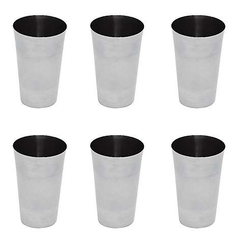 Set por 6 vasos de acero inoxidable