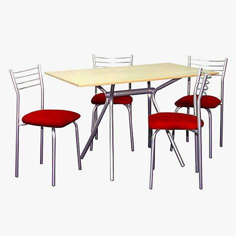Juego de mesa mirage 4 sillas ambienta for Comedor 4 sillas falabella
