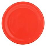 Plato de postre clásico rojo