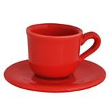 Taza de café clásico rojo