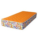 Colch�n foam orange one side 80 x 190 cm
