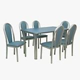 Juego de mesa Roda + 6 sillas