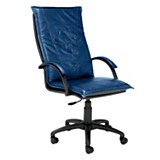 Silla Kourus 601 de cuero ecol�gico Azul