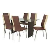 Juego de mesa Rouge + 6 sillas