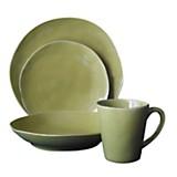 Juego de vajilla 24  piezas olivia green