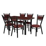 Juego de mesa 645 + 6 sillas
