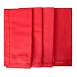 Set 4 servilletas vainilla rojo 40 x 40 cm