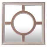 Espejo madera circulo 45 cm