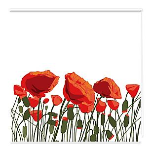 Cortina  flores 150 x 150 cm