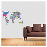 Wall sticker mapa mundi 65 x 50 cm