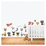 Wall sticker pets 65 x 50 cm