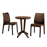 Set de 2 sillas y mesa bistro