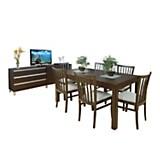 Juego de mesa trampa + 6 sillas Eugenia