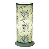 Velador tubo flores 10 x 25 cm