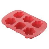 Molde para muffin flores rojo