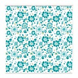 Cortina roller blackout flores 200 x 220 cm